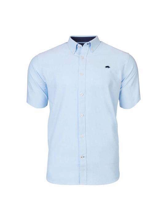 Raging Bull - Big & Tall - Short Sleeve Signature Oxford Shirt - Sky Blue