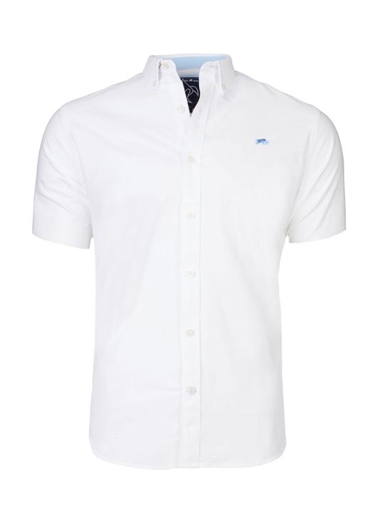 Raging Bull - Short Sleeve Signature Oxford Shirt - White