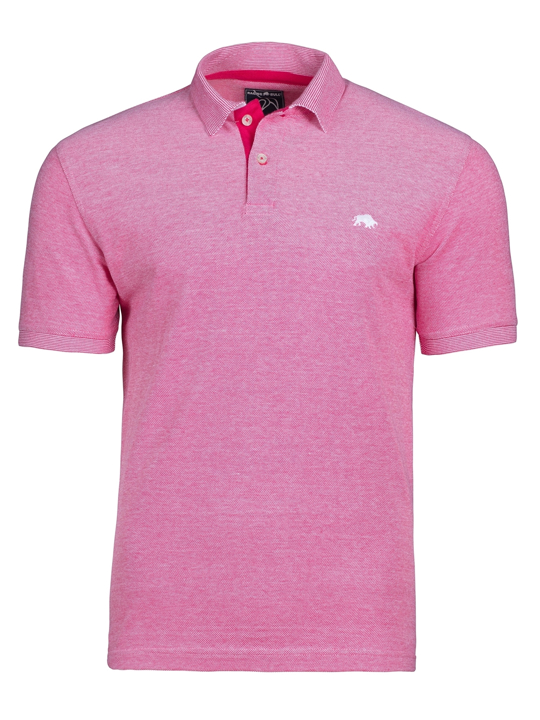 Raging Bull Birdseye Pique Polo - Vivid Pink