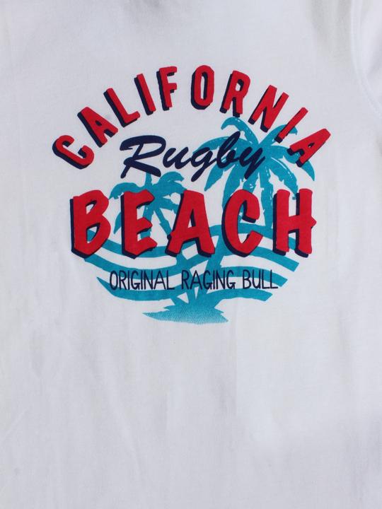 Raging Bull - California Beach Rugby Tee - White