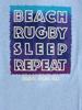 Raging Bull Beach Sleep Repeat Tee - Sky Blue