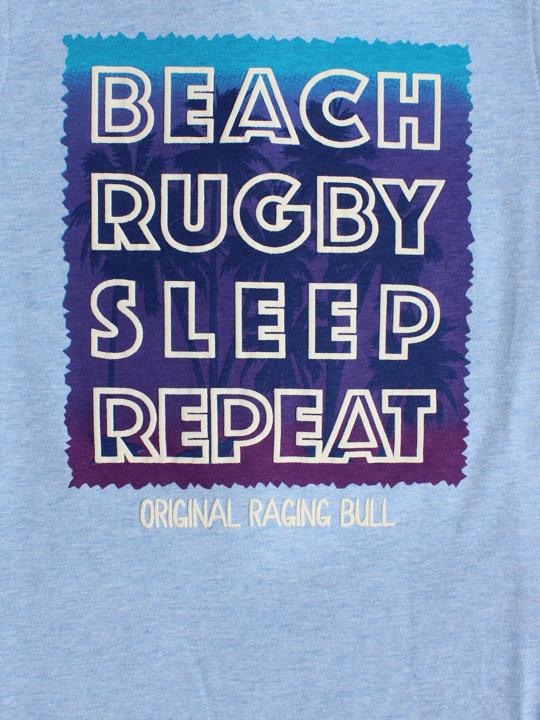 Raging Bull - Beach Sleep Repeat Tee - Sky Blue