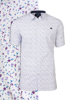 Raging Bull Short Sleeve Ditzy Floral Print Shirt - White/Purple