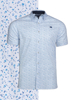 Raging Bull Short Sleeve Ditzy Floral Print Shirt - White
