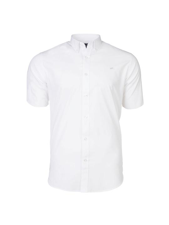 Raging Bull - Short Sleeve Signature Poplin Shirt - White