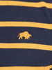 Raging Bull Big & Tall - Signature Breton Polo - Navy/Yellow