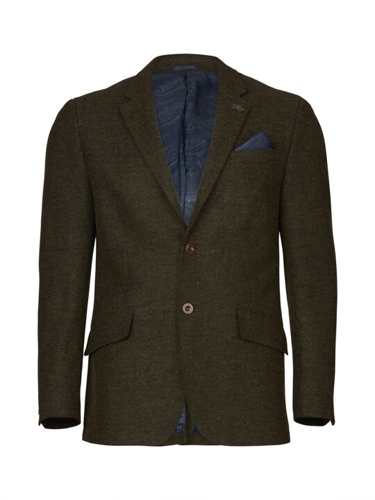 Raging Bull Tweed Blazer - Forest