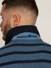 Raging Bull Birdseye Stripe Polo - Denim Blue