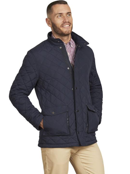 Raging Bull - Signature Quilted Field Jacket - Navy