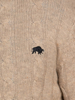 Raging Bull Cable Knit Button Up - Oatmeal