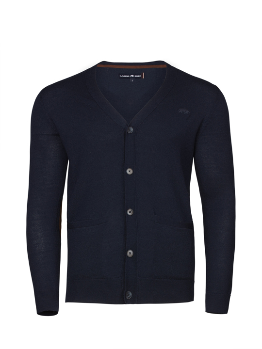 Raging Bull - Button Up Cardigan - Navy
