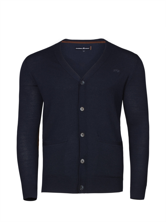 Raging Bull - Big & Tall - Button Up Cardigan - Navy