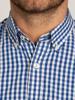 Raging Bull Big & Tall - Long Sleeve Signature Gingham Shirt - Navy