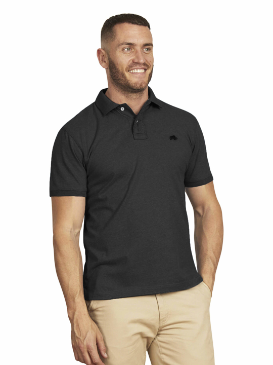 Raging Bull - Big & Tall - Signature Jersey Polo - Black