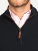 Raging Bull Big & Tall - Textured Quarter Zip Knit - Navy
