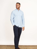Raging Bull Big & Tall - Long Sleeve Signature Gingham Shirt - Sky Blue