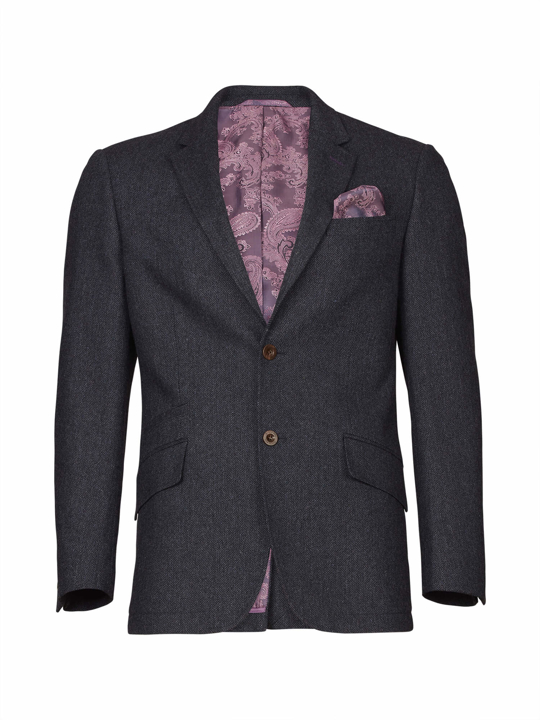 Raging Bull - Big & Tall - Herringbone Blazer - Grey