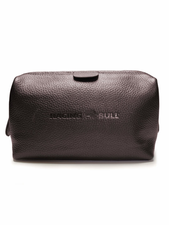 Raging Bull - Leather Wash Bag - Brown