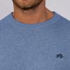 Raging Bull Big & Tall - Crew Neck Cotton/Cashmere Sweater - Denim Blue
