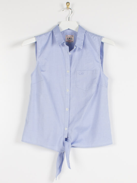 Raging Bull Oxford Sleeveless Shirt - Chambray