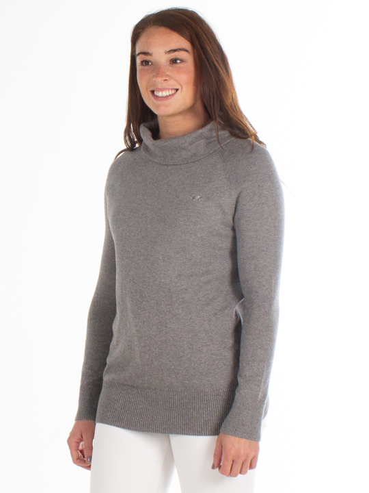 Raging Bull - Soft Roll Neck Pullover - Grey Marl