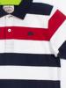 Raging Bull Yarn Dyed Stripe Polo - White