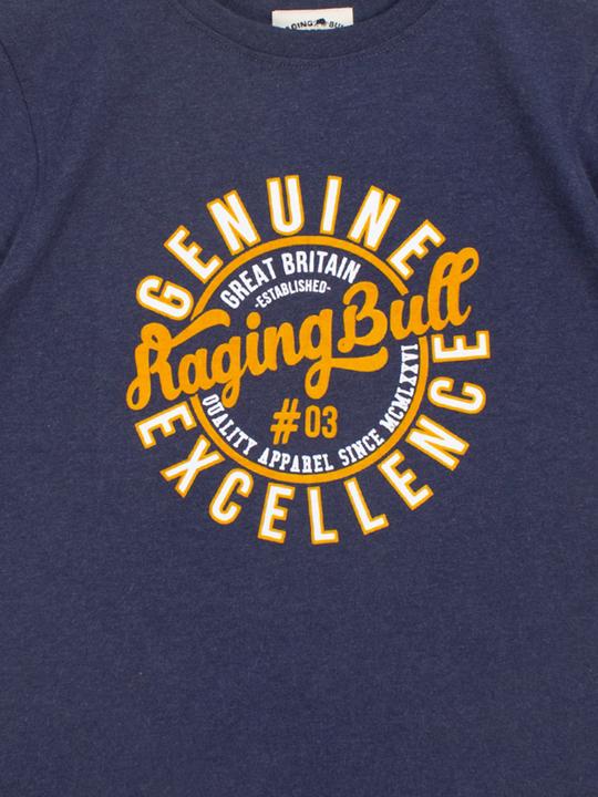 Raging Bull - Genuine Excellence Tee - Navy