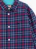 Raging Bull Brushed Cotton Check Long Sleeve Shirt - Navy