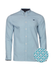 Raging Bull Long Sleeve Geo Print Shirt - Teal