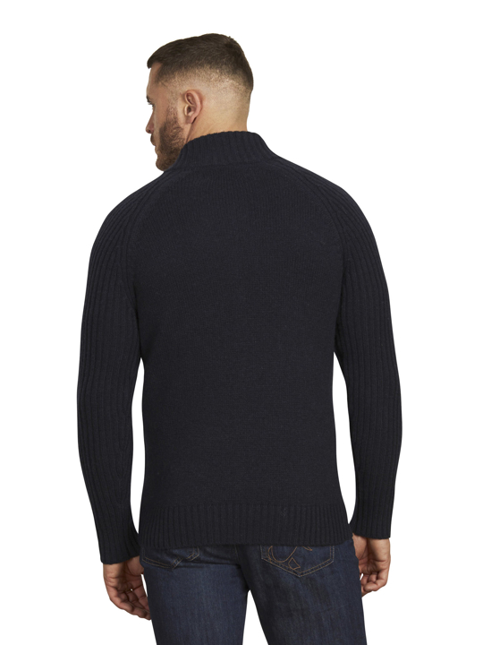 Raging Bull - Heavy Knit Zip Through - Navy