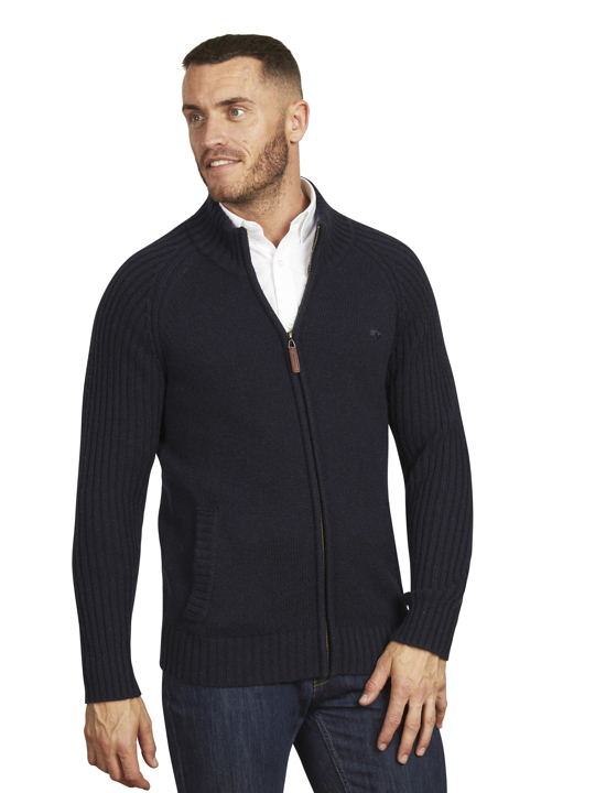 Raging Bull - Big & Tall - Heavy Knit Zip Through - Navy