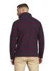 Raging Bull Big & Tall - Pigment Stripe Quarter Zip - Navy/Red