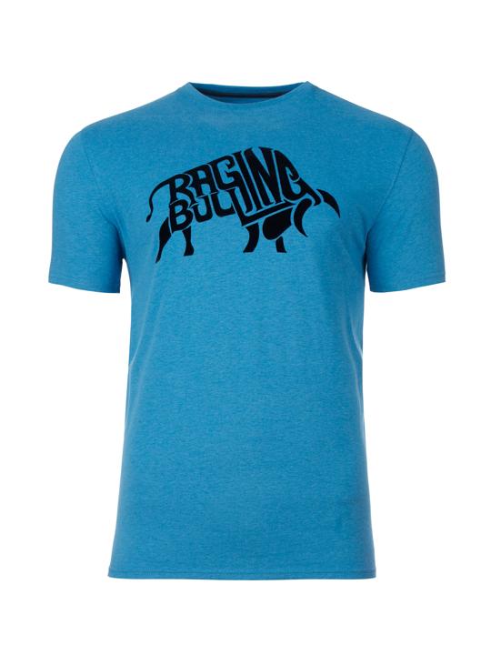 Raging Bull - Flock Bull Tee - Cobalt Blue