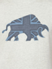 Raging Bull Big & Tall Embroidered Bull Tee - Grey Marl