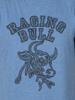 Raging Bull Big & Tall Paisley Bull Head Tee - Denim Blue