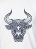Raging Bull Big & Tall Tribal Bull Tee - White