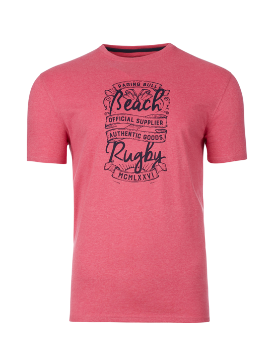 Raging Bull - Big & Tall Beach Rugby Tee - Pink