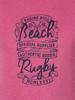 Raging Bull Big & Tall Beach Rugby Tee - Pink