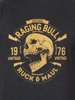 Raging Bull Skull Tee - Black
