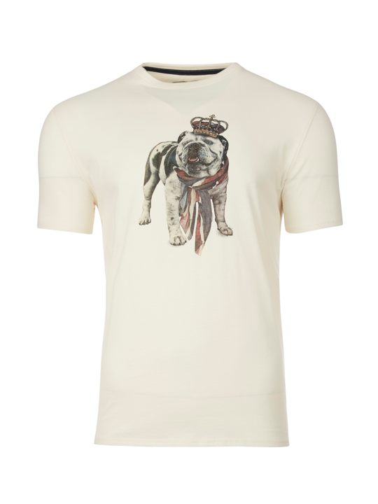 Raging Bull - Big & Tall Bulldog Tee - Cream