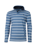 Raging Bull Stripe Quarter Zip Pique - Mid Blue