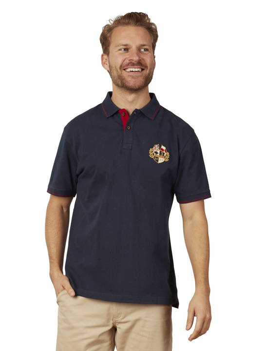 Raging Bull - Crest Pique Polo - Navy