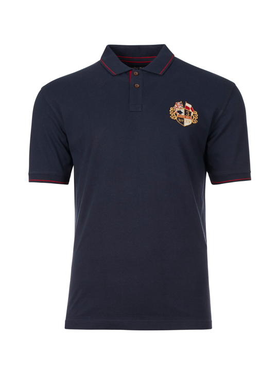 Raging Bull - Big & Tall Crest Pique Polo - Navy