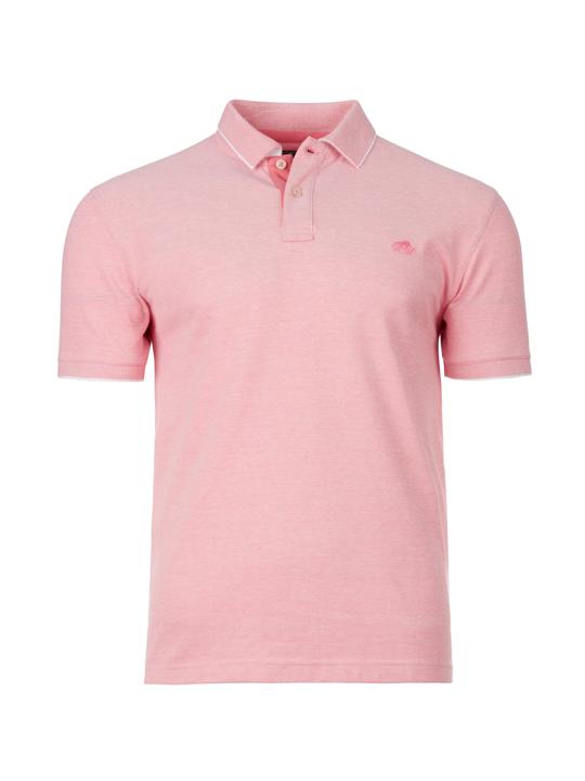 Raging Bull - Birdseye Pique Polo - Pink