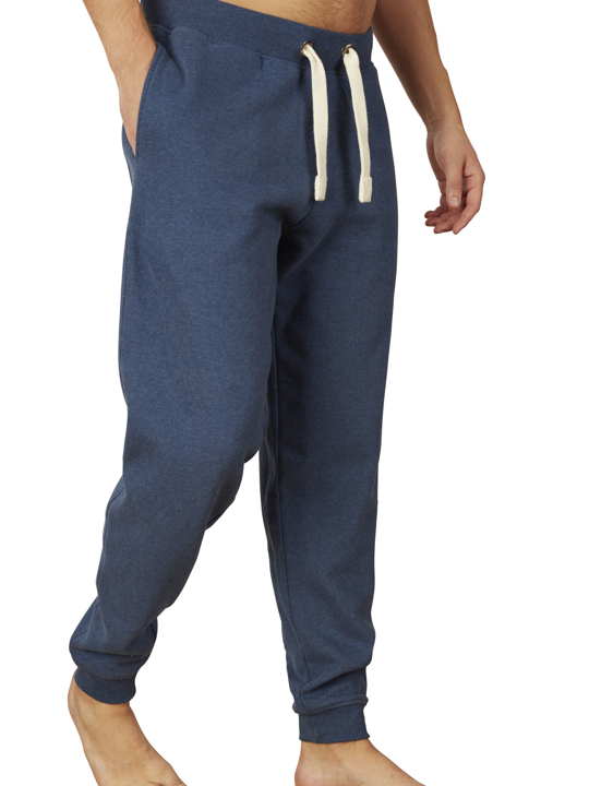 Raging Bull Cuffed Sweatpant - Mid Blue