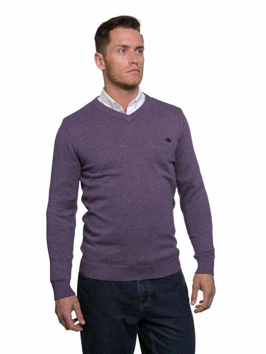 Raging Bull - Big & Tall Signature Lightweight V-Neck - Purple