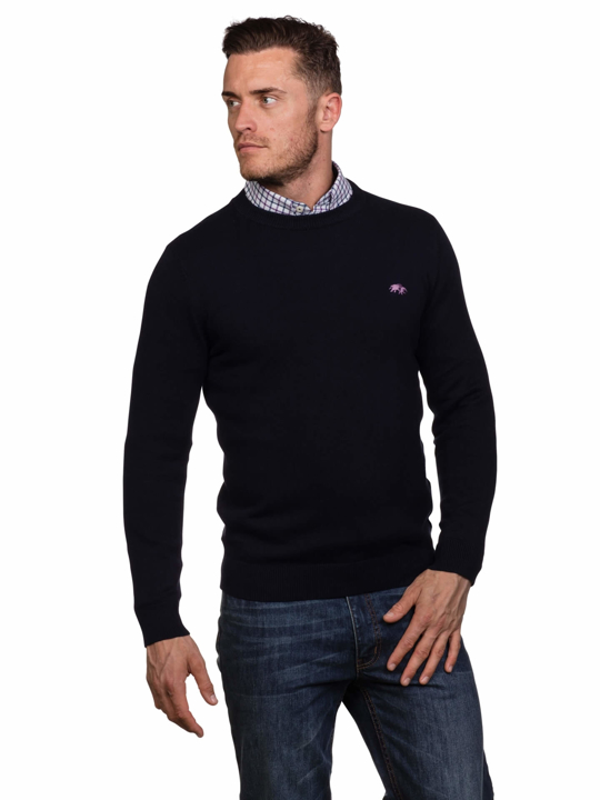 Raging Bull - Signature Lightweight Crew Neck - Navy