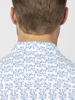 Raging Bull Big & Tall Short Sleeve Spring Leaf Print Shirt - Cobalt