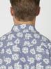 Raging Bull Big & Tall Short Sleeve Floral Shirt - Chambray