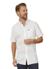 Raging Bull Short Sleeve Linen Shirt - White